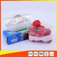 Buy cheap LDPE Transparent Resealable Press Zip Snack Ziplock Bags Air Proof For Packaging from Wholesalers