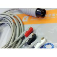 Buy cheap Generic AAMI 6 Pin One Piece ECG Patient Cable 3 Leads For Patient Monitoring Equipment from Wholesalers