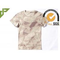 Quality Tactical Cool Army T Shirts 100% Cotton , Short Sleeve Combat Shirt Quick Dry wholesale