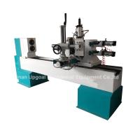 Quality Turning Broaching Engraving Wood Lathe Machine with Double Axis Double Blade wholesale