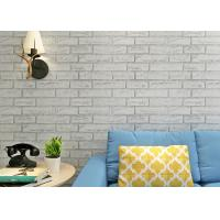 Buy cheap Greyish White Brick Printing Self Adhesive Wallpaper Modern Style Wallpaper For Living Room from Wholesalers