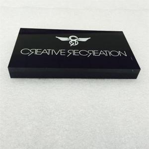 Buy cheap Silk screen printing acrylic LOGO block from wholesalers