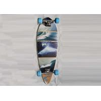 Buy cheap Double Kick Longboard Canadian Maple Skateboards Deck With Heat Transfer Design from wholesalers