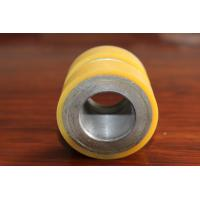 Buy cheap Yellow High Density Polyurethane Wheel Heavy Duty Coating Rollers Wheels Replacement from wholesalers