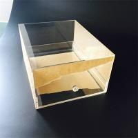 Buy cheap Custom Transparent Acrylic shoe box with drawer from Wholesalers