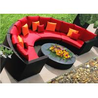 Buy cheap Resort Half Circle Shape Rattan Corner Sofa Set , All Weather Rattan Garden Furniture from wholesalers
