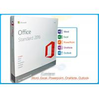 Buy cheap 32 / 64 BIT Microsoft Office 2016 Standard License English Language Version from Wholesalers