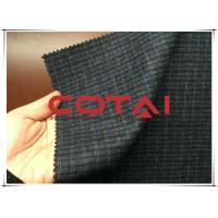 Buy cheap Small Blue and Yellow 1cm Plaid / Tartan Wool Fabric Autumn / Winer Suit Blazer Fabric from Wholesalers