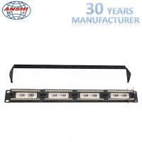 Buy cheap 110 Idc Rack Mount Patch Panel 19 Inch Cat6 Unshield Utp With Cable Manager from wholesalers