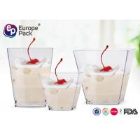 Disposable Plastic Dessert Cup Mini Party Use Ps Clear Transparent