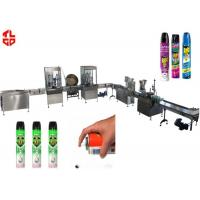 Quality Precision Automatic Aerosol Filling Machine for Mosquito Aerosol Can 800-1100cans/hour wholesale