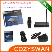 Buy cheap Full High Definition 1080p 3D Android Smart TV Box H5 Cortex A9 1.6GHZ Bluetooth V4.0 from Wholesalers