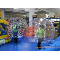 China Clear Inflatable Bubble Ball Red Straps Adults Inflatable Belly Ball Bump Bubbles with CE on sale