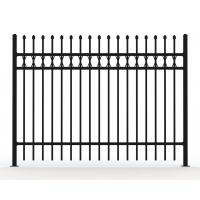 Buy cheap Heavy Duty 20*20*1mm Square Tube AKZONOBEL Powder Flat Top Tubular Fence from wholesalers