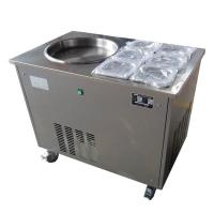 Buy cheap Stirring Fry Fruit Yogurt Fried Ice Cream Rolls Machine/ Single Pan with 6 Cooling Tanks from wholesalers