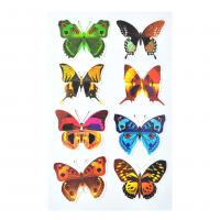 Buy cheap Magical TPE reusable Non Glue Colorful Buttterfly Stickers Stick On Any Smooth Surface Kids nice gift stickers from wholesalers