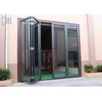 Buy cheap Commerical Building Aluminium Folding Doors Energy Saving With Double Glazing Glass from Wholesalers