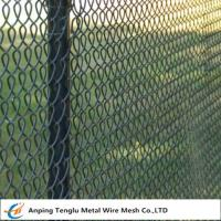 Buy cheap Color Chain Link Fence 50x50mm Opening Vinyl Coated Wire Fencing for Construction from wholesalers