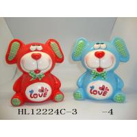 Customized Logo Teddy Bear Coin Bank , Unique Cute Piggy Banks Heavy Dolomite Material