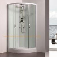 Buy cheap 800 x 800mm quadrant shower enclosure sliding shower glass door with back jets from wholesalers