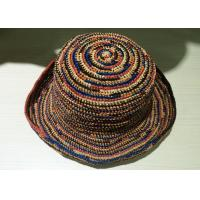 Buy cheap Mix Colour Raffia Sun Hats Provence Crochet  With 8cm Brim For Church from Wholesalers