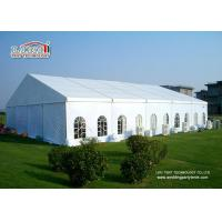 China Easy Instalaltion  400 People  Aluminum Wedding Marquee Tent With Clear Window Sidewalls on sale
