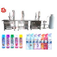 Cheap Semi Automatic Aerosol Filling Machine , Air Freshener Aerosol Filling System for sale