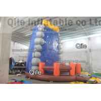 China Gaint Red Inflatable Rock Climbing Mountain , Inflatable Amusement Park on sale