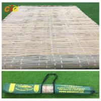 China Bamboo mat with carrying bag,tied by raffia grass,hot summer  outdoor bamboo mat on sale