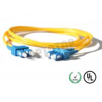 Buy cheap 2.5m Single Mode Fiber Optic Patch Cord 2mm For LANs / Telecom , REACH Listed SC from Wholesalers