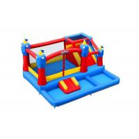 China PVC Tarpaulins Attractive Party Inflatable Bouncer Combo With Slide  5 * 5 * 3m on sale