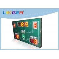 Quality Wireless Basketball Scoreboard , Basketball Clock Timer Red / Yellow / Green Color wholesale