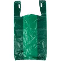 Buy cheap Green Color Grocery Shopping Bags , Plastic Tee Shirt Bags Environmental Friendly from Wholesalers