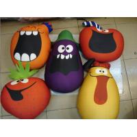 Quality vegetable style cushion,beads cushion,polythene ball filling cushion,funny play toy wholesale