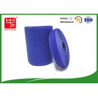 Blue velcro tape customized adhesive backed hook and loop tape 100% nylon material