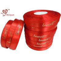 Red gift tie ribbon 6 / 8 Inch Custom Printed , personalized gift ribbon for Chocolate / candy