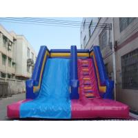 Buy cheap Newest Design Lane Commercial Inflatable Slide With Bouncers For Rent from Wholesalers