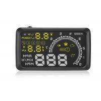 """OBD2 Vehicle Heads Up Speed Display W02 5.5 Inch Rotating Speed 5000r RPM Alarm 5.5 """" Screen"""