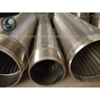 Full Welded Johnson Wedge Wire Screens Large Open Area Simple Structure