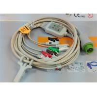 Buy cheap 5 Leads Snap AHA ECG Patient Cable , Mindray 12 Pin One Piece ECG Cable from Wholesalers