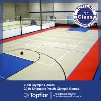 Quality Indoor Premier Rubber Flooring Used For international evens Basketball Court wholesale