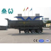 Buy cheap U Shape Steel Tipper Semi Trailer 24 CBM 3 Axles Mechanical with HYVA Cylinder from Wholesalers
