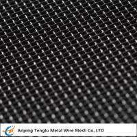 Buy cheap Mild Steel Wire Mesh|Square Hole Woven Mesh Known as Black Cloth from wholesalers