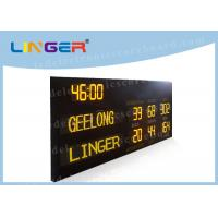 Quality Australia AFL Mode Led Electronic Scoreboard with Time Function in Yellow Color wholesale