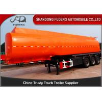 Buy cheap Flammable Fuel Tanker Truck25000 L , Fuel Tank Trailer With 3 Compartments from wholesalers