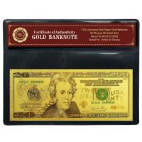Buy cheap SGS USD 20 Dollar Banknote , Gold Paper Money Decoration Article from Wholesalers