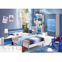 Buy cheap Blue Color Environmental Paint Kids Bedroom Furniture Sets For Boys , Easy To Assembly from wholesalers