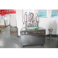 Buy cheap Semi Automatic Aerosol Filling Machine Snow Spray With Glass Balls from Wholesalers