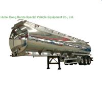 Buy cheap Aluminum Alloy Fuel Tank Semi Trailer 45000L ~50000L With Air Bag Suspension from Wholesalers