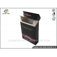 Quality Fancy Paper Cigarette Packaging Box Full Color Printing Consistent Clarity With Lid for sale